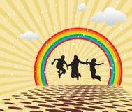 Het Springen van kinderen royalty-vrije illustratie
