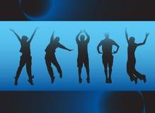 Het springen van mensen Stock Fotografie
