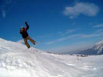 Het springen van Snowborder Stock Foto's