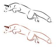 Het springen van vossen stock illustratie