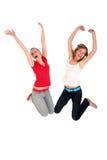 Het springen van vrouwen Stock Afbeelding