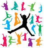 Het Springen van vrouwen Stock Foto