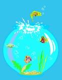 Het springen vissen vector illustratie