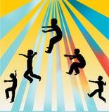 Het springen voor Vreugde Stock Afbeelding