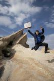 Het springen voor vreugde Royalty-vrije Stock Fotografie