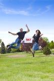 Het springen voor Vreugde Royalty-vrije Stock Foto