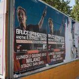 Het Springsteen-aanplakbord van de wereldreis 2013 Stock Afbeeldingen