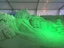 Het Sprookje van het zandbeeldhouwwerk stock foto