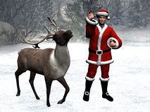 Het sprookjesland van de winter, Kerstmis, de Kerstman Royalty-vrije Stock Afbeeldingen