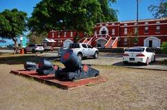 Het St Ann Garrison historische gebied in Barbados Stock Fotografie