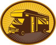 Het sta-caravan van de kampeerauto van caravan vector illustratie