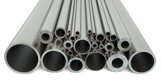 Het staal leidt 3D door buizen vector illustratie