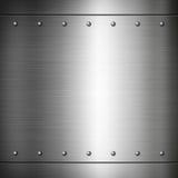 Het staal nagelde geborstelde plaattextuur vast Royalty-vrije Stock Afbeeldingen
