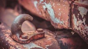 Het Staalduw en Trekkracht van de autoroest stock foto