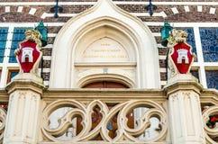 Het stadhuis architecturaal detail van Alkmaar Stock Fotografie