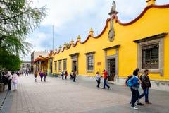 Het stadhuis bij de historische buurt van Coyoacan in Mexico royalty-vrije stock fotografie