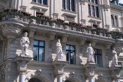 Het stadhuis in Graz, Oostenrijk royalty-vrije stock fotografie