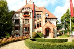 Het Stadhuis in Kronberg, Duitsland royalty-vrije stock afbeeldingen