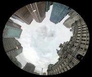 Het stadhuis ongewone mening van Philadelphia stock foto's