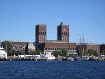 Het Stadhuis, Oslo, Noorwegen Royalty-vrije Stock Foto