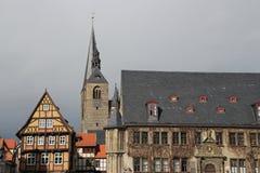 Het stadhuis in Quedlinburg royalty-vrije stock fotografie