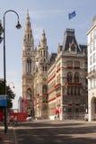Het Stadhuis semilateral mening van Wenen Stock Foto's