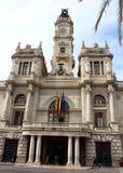 Het Stadhuis in Valencia, Spanje stock foto's