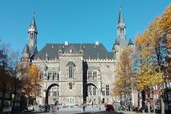 Het Stadhuis van Aken Stock Afbeelding
