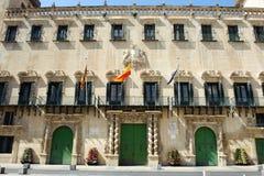 Het stadhuis van Alicante stock foto