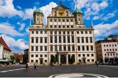 Het Stadhuis van Augsburg stock foto