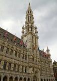 Het Stadhuis van Brussel Stock Foto's
