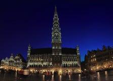 Het Stadhuis van Brussel Stock Foto