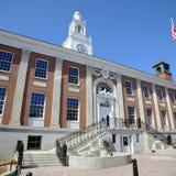 Het Stadhuis van Burlington, Burlington, Vermont royalty-vrije stock foto