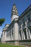 Het stadhuis van Cardiff stock foto