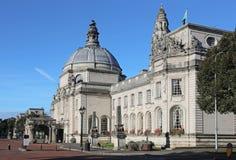 Het Stadhuis van Cardiff stock foto's