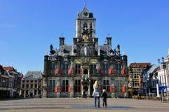 Het stadhuis van Delft Stock Afbeelding