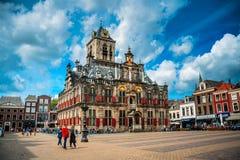 Het Stadhuis van Delft Stock Afbeeldingen