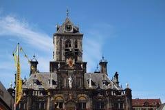 Het Stadhuis van Delft, Nederland Stock Fotografie