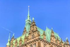 Het Stadhuis van Hamburg Royalty-vrije Stock Fotografie