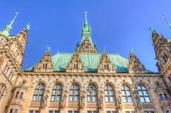 Het Stadhuis van Hamburg Stock Foto's
