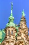 Het Stadhuis van Hamburg Stock Afbeeldingen