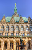 Het Stadhuis van Hamburg Stock Fotografie