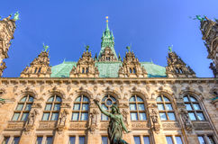 Het Stadhuis van Hamburg Royalty-vrije Stock Foto's