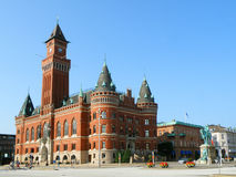 Het Stadhuis van Helsingborg, Schitterend Oriëntatiepunt van Helsingborg royalty-vrije stock foto