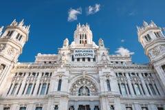 Het Stadhuis van het CybeleSpaleis in Madrid, Spanje Stock Fotografie