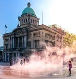 Het Stadhuis van Hull en stoomfontein royalty-vrije stock fotografie