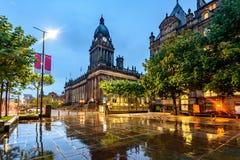 Het Stadhuis van Leeds, Leeds West-Yorkshire, Engeland royalty-vrije stock afbeelding
