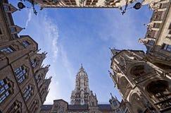Het Stadhuis van München, de werf stock foto's