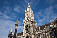 Het Stadhuis van München, Duitsland Stock Foto