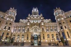 Het stadhuis van Madrid Stock Afbeelding